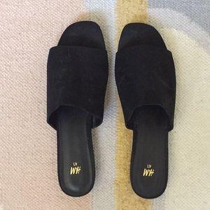 H&M Black Slides like MNZ
